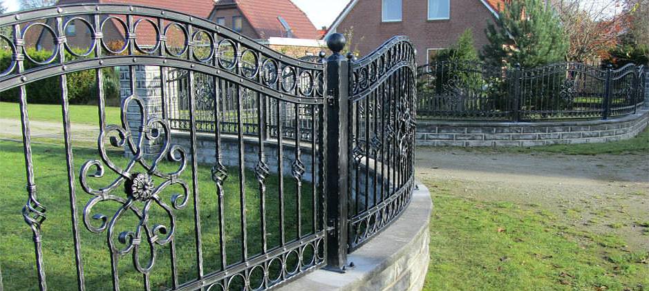 Ein schmiedeeisen modell im barock stil mit traumhafte - Zaun schmiedeeisen ...